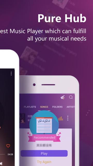 PureHub - Free Music Player screenshot 2