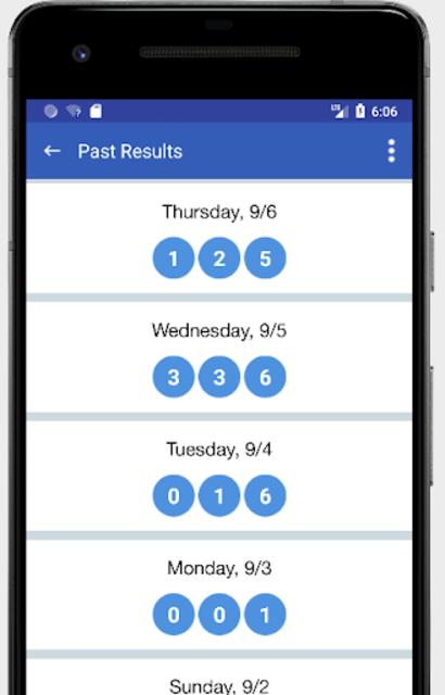 Pick 3 & Cash 3 -  Lottery Results & Predictor screenshot 5