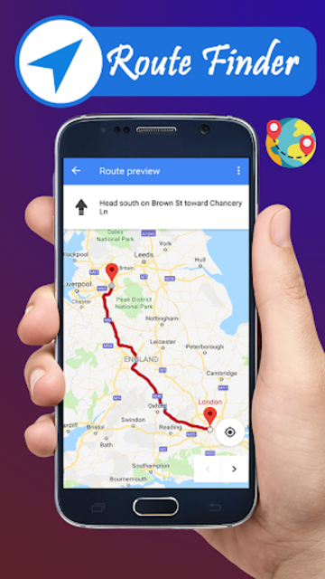 Voice GPS navigation, driving directions, map screenshot 2