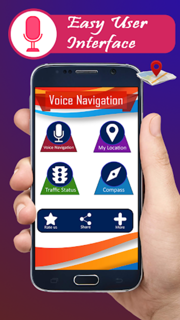 Voice GPS navigation, driving directions, map screenshot 3