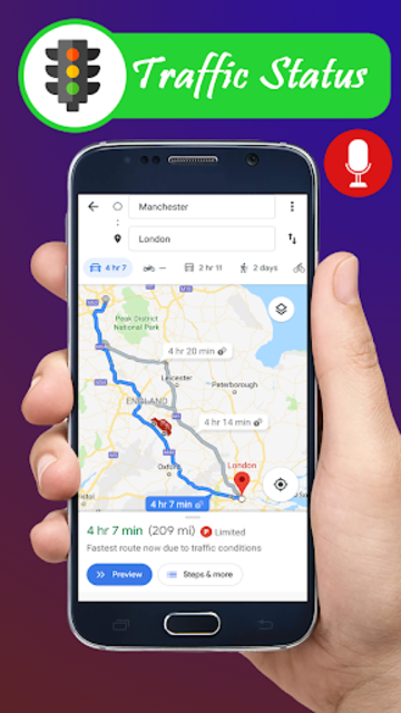 Voice GPS navigation, driving directions, map screenshot 12