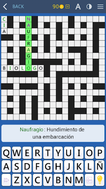 Crosswords - Spanish version (Crucigramas) screenshot 9