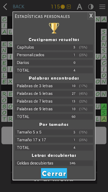 Crosswords - Spanish version (Crucigramas) screenshot 15