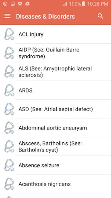 Disorder & Diseases Dictionary screenshot 2