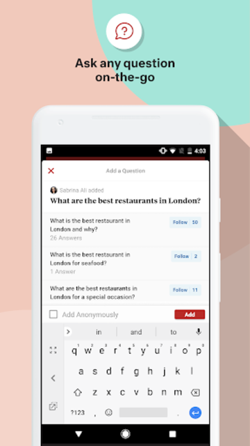 Quora — Ask Questions, Get Answers screenshot 3