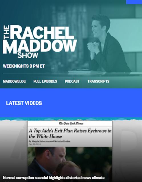 MSNBC Rachel Maddow Live screenshot 3