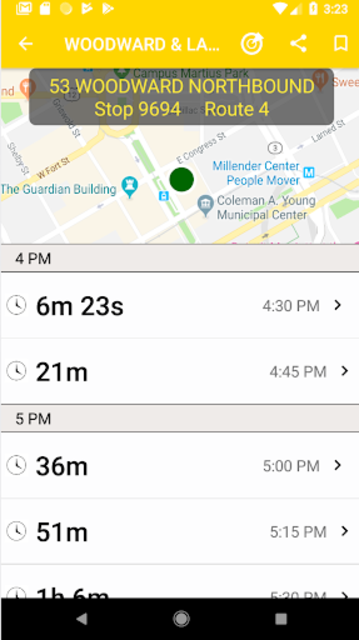 Transit Tracker - Detroit (DDOT) screenshot 2