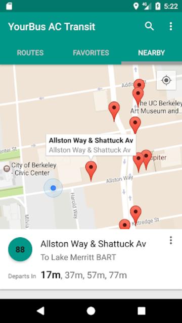 AC Transit Bus Tracker App - Commuting made easy. screenshot 3