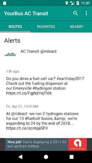 AC Transit Bus Tracker App - Commuting made easy. screenshot 4