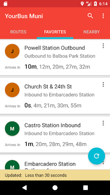 San Francisco Muni Bus Tracker - Muni made easy screenshot 2
