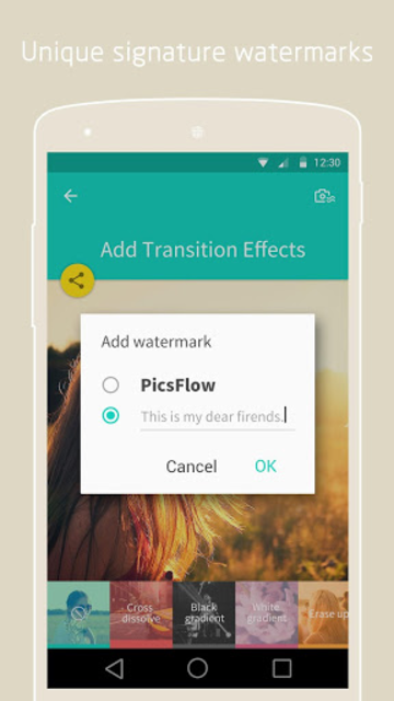 PicsFlow - Slideshow editor screenshot 5