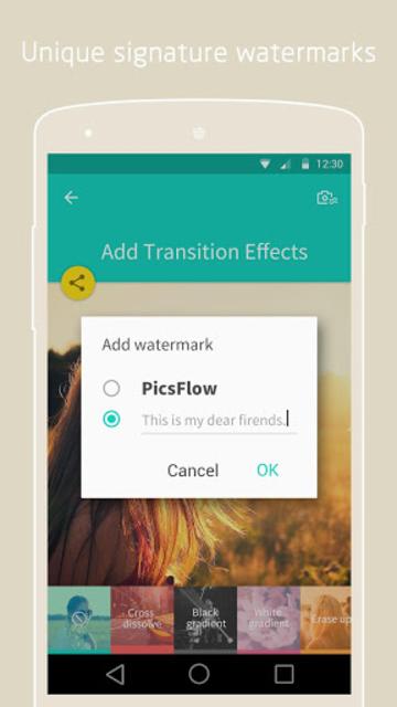 PicsFlow - Slideshow editor screenshot 10