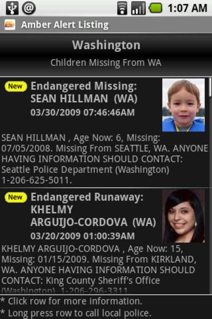 Amber Alert screenshot 2