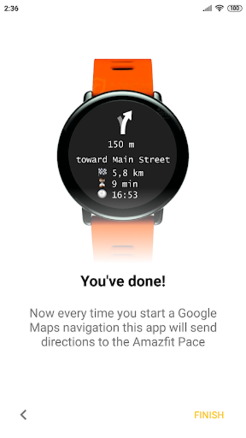 Navigator for Amazfit Pace, Stratos and Verge screenshot 1