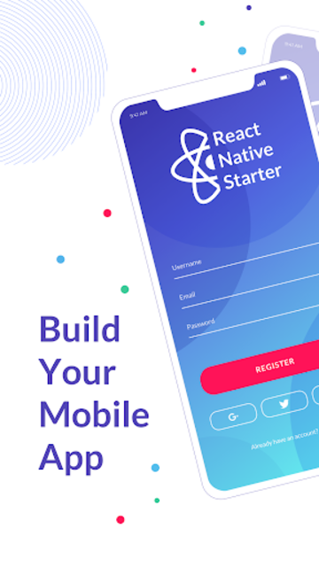 React Native Starter screenshot 1