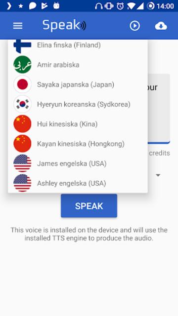 James American English TTS screenshot 3