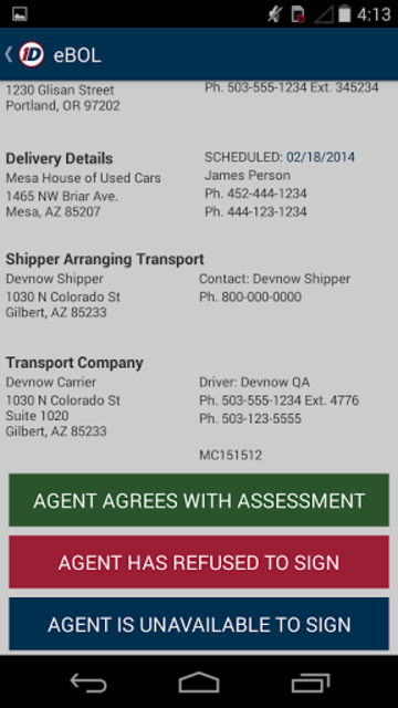 1Dispatch Carrier App screenshot 6