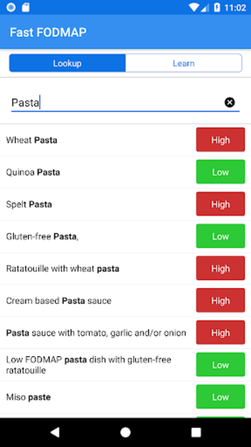 Fast FODMAP Lookup & Learn (for IBS sufferers) screenshot 5