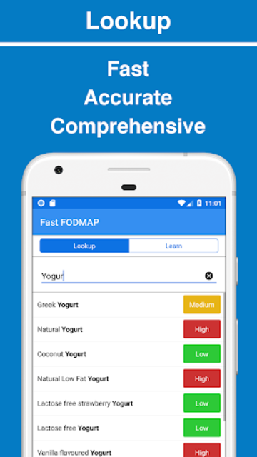Fast FODMAP Lookup & Learn (for IBS sufferers) screenshot 1