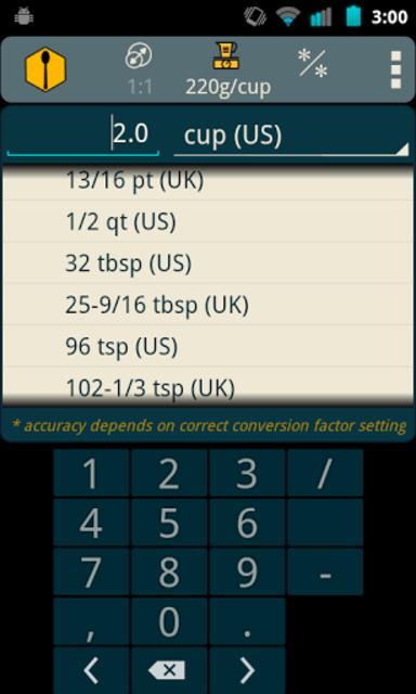 Recipe Convert Pro screenshot 2