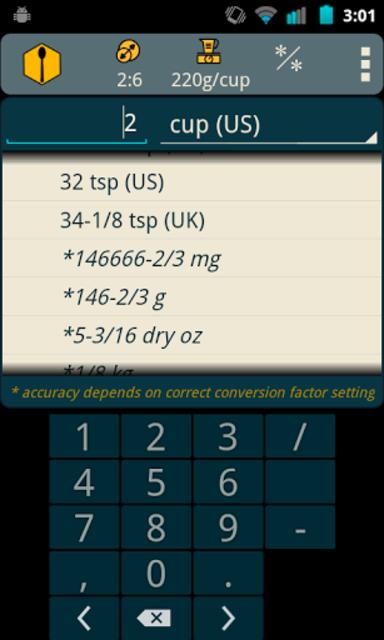 Recipe Convert Pro screenshot 3