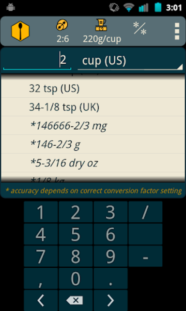 Recipe Convert Pro screenshot 3