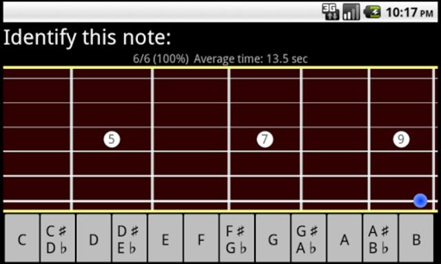 RR Guitar Fretboard Trainer screenshot 1