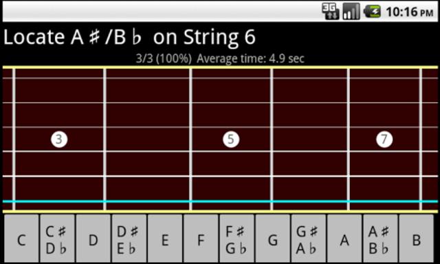 RR Guitar Fretboard Trainer screenshot 2