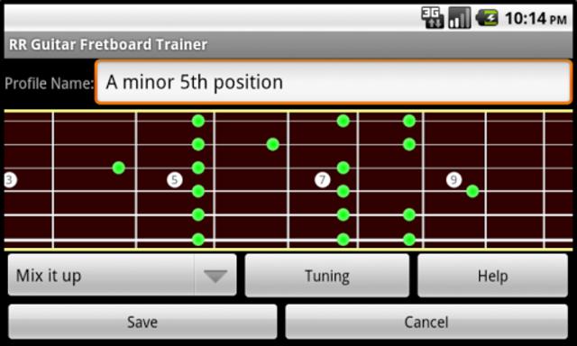 RR Guitar Fretboard Trainer screenshot 3