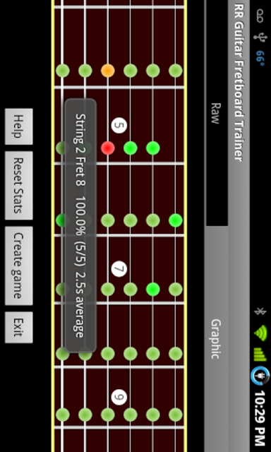 RR Guitar Fretboard Trainer screenshot 4