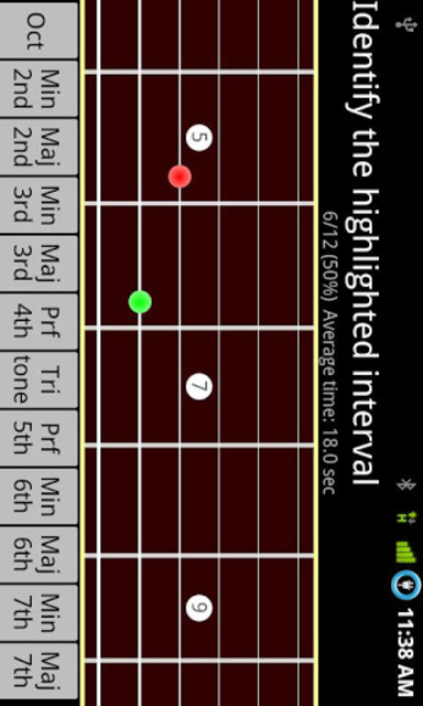 RR Guitar Interval Trainer screenshot 1