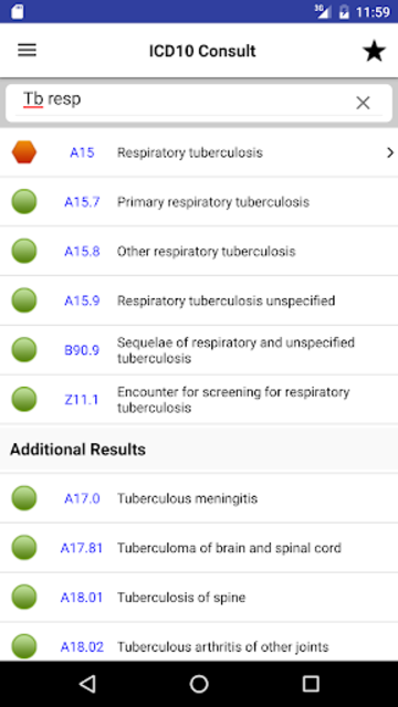 ICD10 Consult screenshot 1