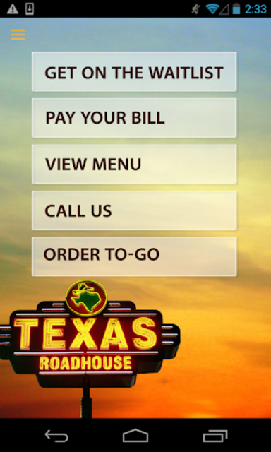 Texas Roadhouse Mobile screenshot 1