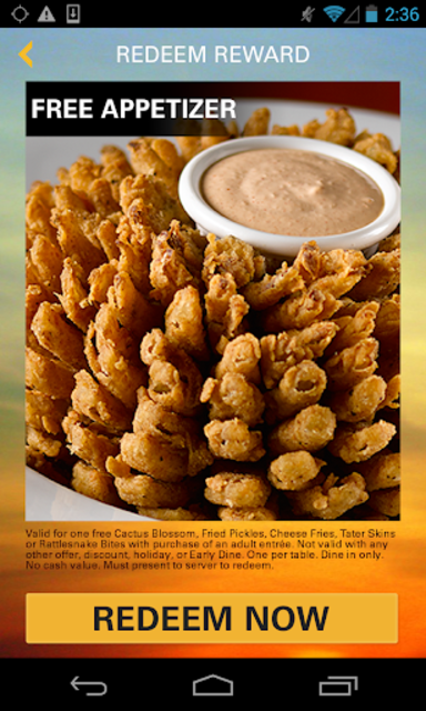 Texas Roadhouse Mobile screenshot 3