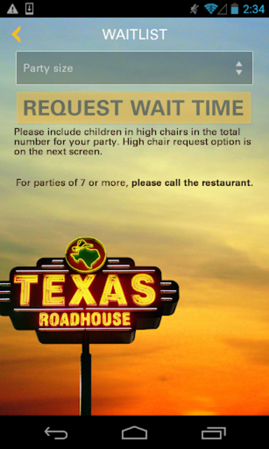 Texas Roadhouse Mobile screenshot 5