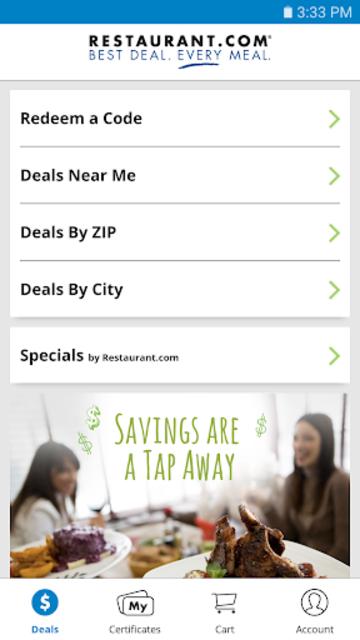Restaurant.com screenshot 1