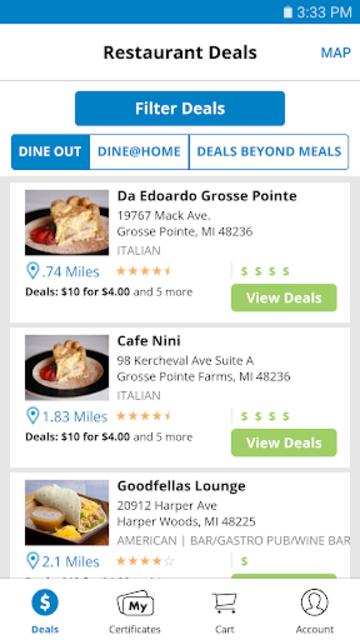 Restaurant.com screenshot 2