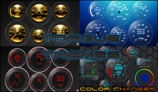 Gold OBD 2 Torque Theme screenshot 1