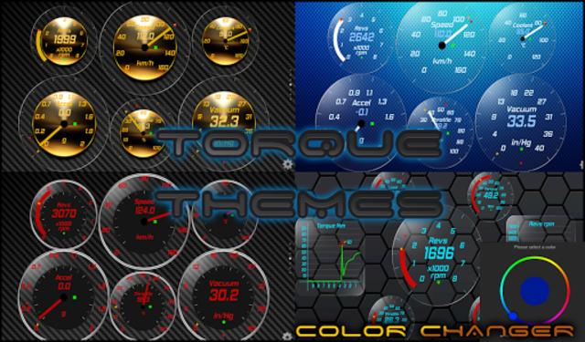 Gold OBD 2 Torque Theme screenshot 4