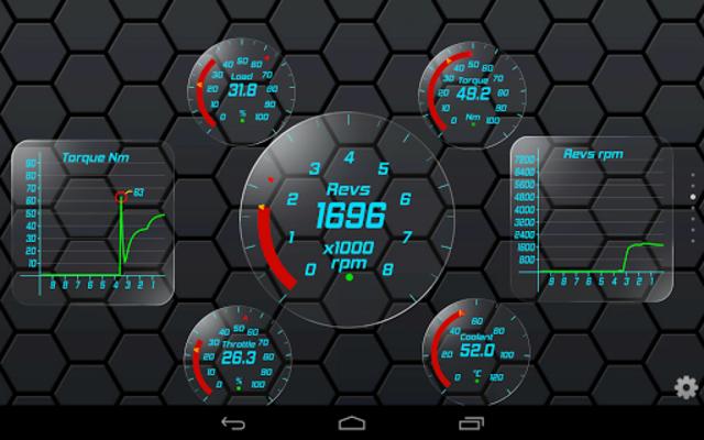 Gold OBD 2 Torque Theme screenshot 3