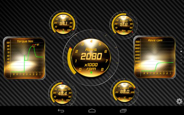 Gold OBD 2 Torque Theme screenshot 5