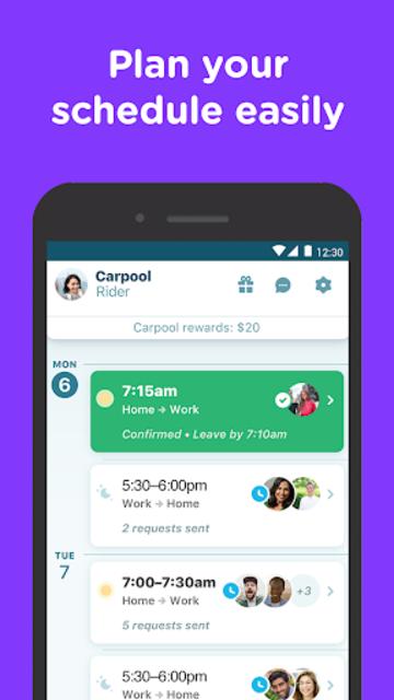 Waze Carpool - Ride together. Commute better. screenshot 2