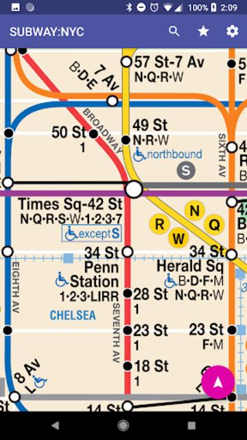 SUBWAY:NYC [No Ads] New York's Premier Subway App screenshot 2