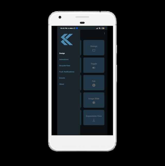 Material Design UI - UX Template | Kotlin screenshot 2