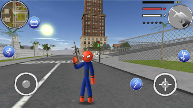 Spider Stickman Rope - Hero of Crime City screenshot 3