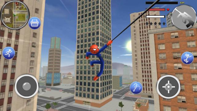 Spider Stickman Rope - Hero of Crime City screenshot 4