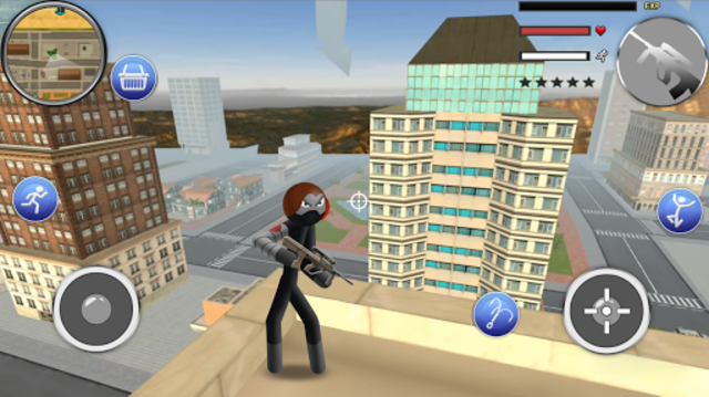 Spider Stickman Rope - Hero of Crime City screenshot 5