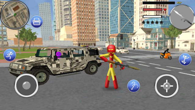 Spider Stickman Rope - Hero of Crime City screenshot 8