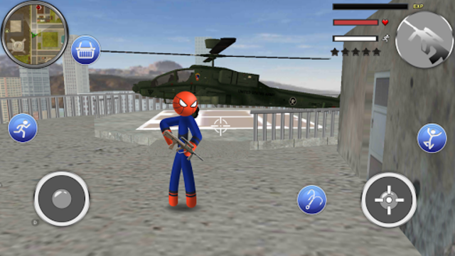 Spider Stickman Rope - Hero of Crime City screenshot 10