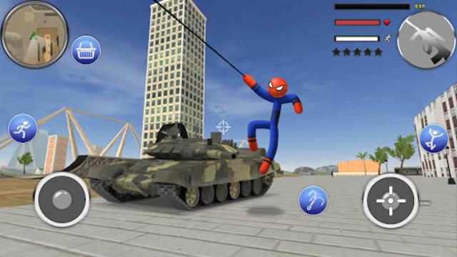 Spider Stickman Rope - Hero of Crime City screenshot 12